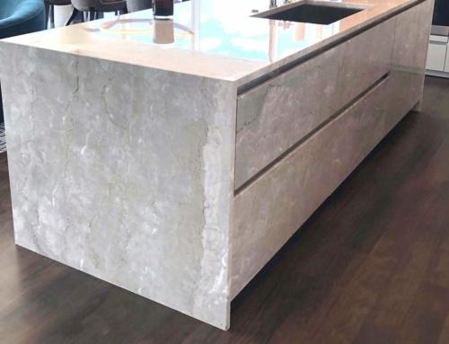 Latest Trends in Kitchen & Bathroom Design: Stone Cabinet Cladding